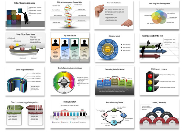 Presentation diagrams for PowerPoint