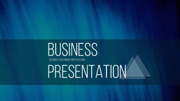 business powerpoint presentation: triangles