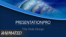 Animated Global Reflection Widescreen PPT PowerPoint Animated Template Background
