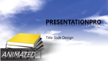 Download animated books in clouds widescreen PowerPoint Widescreen Template and other software plugins for Microsoft PowerPoint