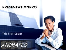 Download animated business woman Animated PowerPoint Template and other software plugins for Microsoft PowerPoint