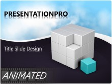 Download animated cube components Animated PowerPoint Template and other software plugins for Microsoft PowerPoint