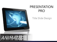 Animated Global 0022 B Widescreen PPT PowerPoint Animated Template Background