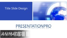 Animated Global 0036 B Widescreen PPT PowerPoint Animated Template Background