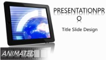 Animated Global 0036 Widescreen PPT PowerPoint Animated Template Background
