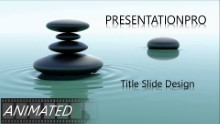 Animated Nature Waterstone 2 Widescreen PPT PowerPoint Animated Template Background