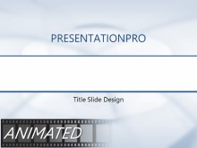 Animated Rings Blue PPT PowerPoint Animated Template Background