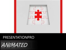 Animated Pieces In Place PPT PowerPoint Animated Template Background