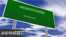 Blank Road Sign PPT PowerPoint Animated Template Background