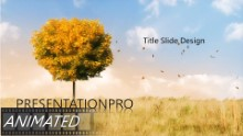 Change Of Seasons B Widescreen PPT PowerPoint Animated Template Background