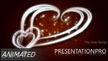 Animated Romantic Hearts Widescreen PPT PowerPoint Animated Template Background