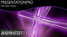 Cross Purple Widescreen PPT PowerPoint Animated Template Background
