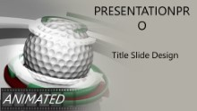 Golf 0906 B Widescreen PPT PowerPoint Animated Template Background