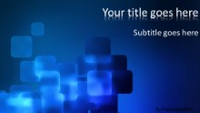 Blue Cubes Widescreen PPT PowerPoint Template Background