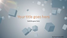 Falling Cubes Widescreen PPT PowerPoint Template Background