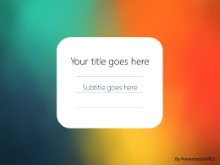 Gradient Blur 1 PPT PowerPoint Template Background