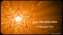 Stars 01 Orange Widescreen PPT PowerPoint Template Background