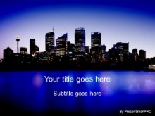 Download sydney skyline PowerPoint Template and other software plugins for Microsoft PowerPoint