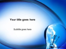 Download blue sky bulb PowerPoint Template and other software plugins for Microsoft PowerPoint
