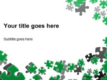 Download puzzle scatter green PowerPoint Template and other software plugins for Microsoft PowerPoint