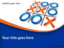 Tic Tac Toe Strategy PPT PowerPoint Template Background