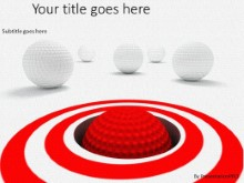 Putting Target PPT PowerPoint Template Background
