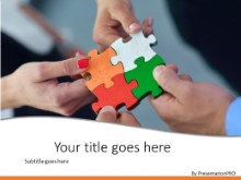 Team Solution PPT PowerPoint Template Background