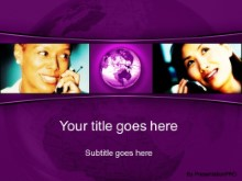 Download global communication purple PowerPoint Template and other software plugins for Microsoft PowerPoint