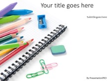Back To School Supplies 2 PPT PowerPoint Template Background
