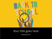 Back To School Supplies 3 PPT PowerPoint Template Background