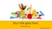 Back To School Supplies Widescreen PPT PowerPoint Template Background