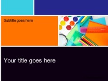 Download creative supplies PowerPoint Template and other software plugins for Microsoft PowerPoint