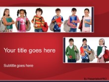 Download ready for school red PowerPoint Template and other software plugins for Microsoft PowerPoint