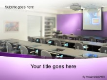 Download training room violet PowerPoint Template and other software plugins for Microsoft PowerPoint