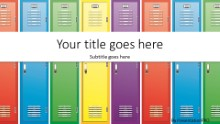 School Lockers Widescreen PPT PowerPoint Template Background