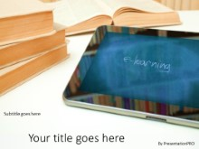 Tablet Education PPT PowerPoint Template Background