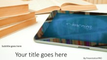 Tablet Education Widescreen PPT PowerPoint Template Background