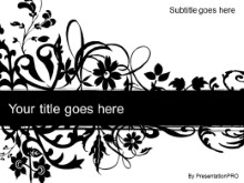 Download floral abstract black PowerPoint Template and other software plugins for Microsoft PowerPoint