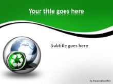 Globe Icon Recycle 2 PPT PowerPoint Template Background