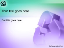 Download recycler purple PowerPoint Template and other software plugins for Microsoft PowerPoint
