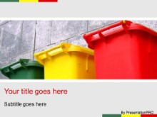 Download recycling bins PowerPoint Template and other software plugins for Microsoft PowerPoint