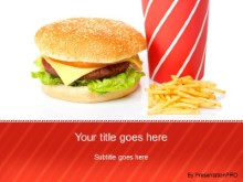 Download cheeseburger fries drinks PowerPoint Template and other software plugins for Microsoft PowerPoint
