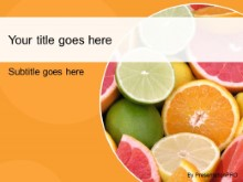 Download citrus fruits orange PowerPoint Template and other software plugins for Microsoft PowerPoint