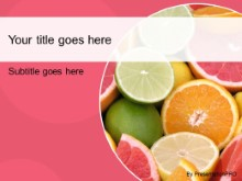 Download citrus fruits pink PowerPoint Template and other software plugins for Microsoft PowerPoint