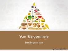 Download food pyramid brown PowerPoint Template and other software plugins for Microsoft PowerPoint
