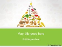 Download food pyramid green PowerPoint Template and other software plugins for Microsoft PowerPoint