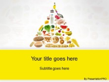 Download food pyramid yellow PowerPoint Template and other software plugins for Microsoft PowerPoint