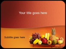 Download healthyfruit PowerPoint Template and other software plugins for Microsoft PowerPoint