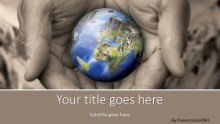 Earth Care Widescreen PPT PowerPoint Template Background