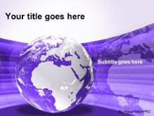 Download europe africa globe purple PowerPoint Template and other software plugins for Microsoft PowerPoint